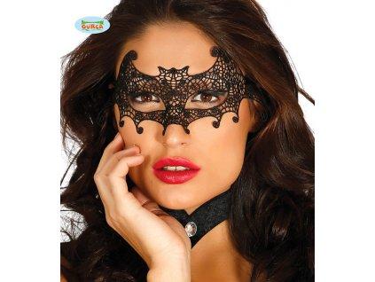 Škraboška krajka netopýr  Halloween