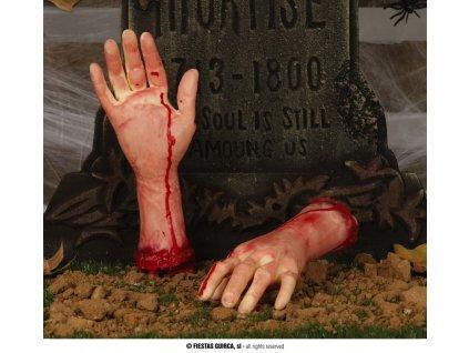 Utržená ruka  dekorace Halloween