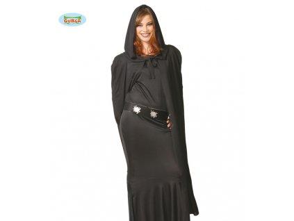 Plášť černý s kapucí  dámský karnevalový kostým
