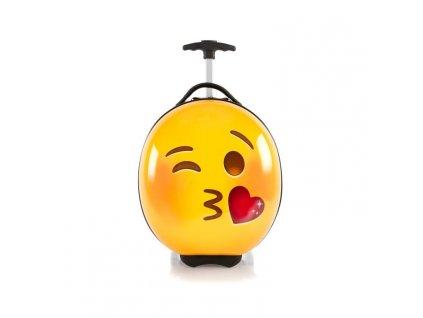 Heys e-Motion Kids Luggage Kiss  dětský kufr na kolečkách s motivy emotikonů
