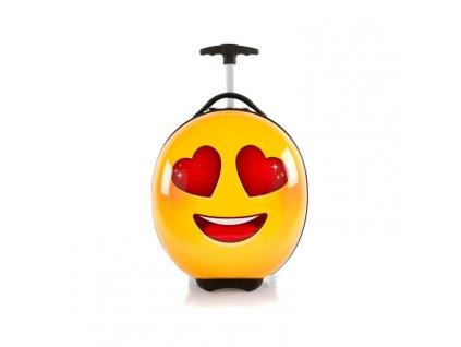 Heys e-Motion Kids Luggage Love  dětský kufr na kolečkách s motivy emotikonů