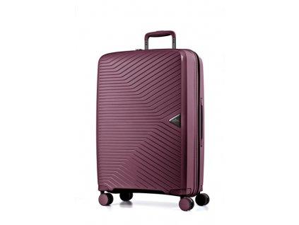 March Gotthard L Wine red  elegantní čtyřkolečkový skořepinový cestovní kufr