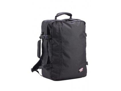 CabinZero Classic Ultra-light Absolute Black  batoh do letadla + visačka na zavazadlo dle vlastního výběru