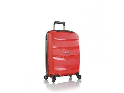 Heys Athena S Red  extrémně odolný skořepinový cestovní kufr na čtyřech kolečkách
