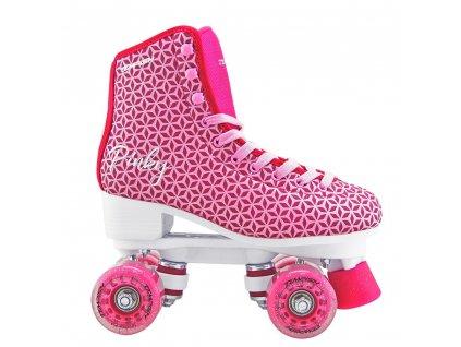 PINKY quad brusle  dámské dívčí módní čtyřkolečkové brusle