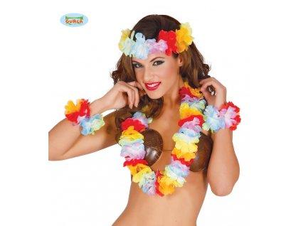 Extra multicolor havajský set