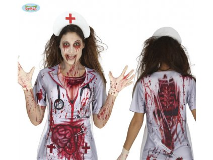 Nurse T-SHIRT dámské triko D  dámské horrorové triko vhodné nejen na Halloween