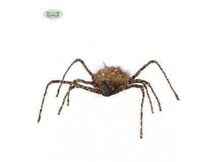 Tygrovitý pavouk 50 cm  dekorace Halloween