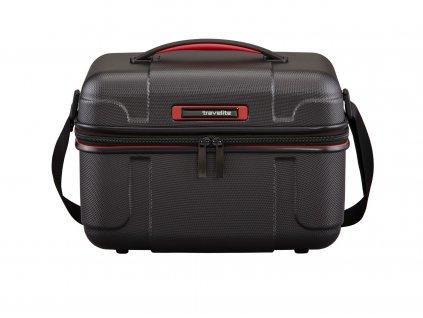 Travelite Vector Beauty case Black  skořepinový kosmetický kufr