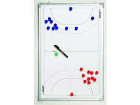 Taktická tabule Select Tactics board alu handball bílá