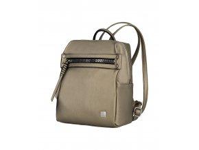Titan Spotlight Zip Backpack Metallic Gold