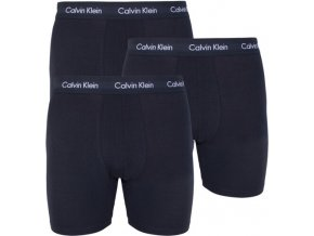 Calvin Klein 3Pack Boxerky Dlouhé All Black L