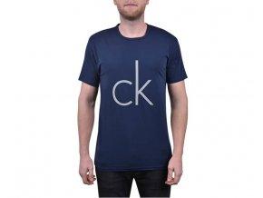 Calvin Klein Pánské Tričko S Logem Modré XL