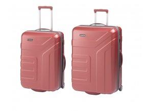 Travelite Vector 2w M,L Coral – sada 2 kufrů