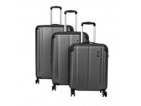 Travelite City 4w S,M,L Anthracite – sada 3 kufrů