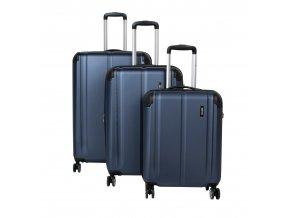 Travelite City 4w S,M,L Navy – sada 3 kufrů