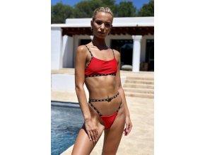 Hugz Plavky Ibiza Sport Bikini Červené L