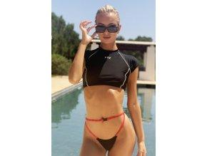 Hugz Plavky Tokyo T-Shirt Bikini Black M