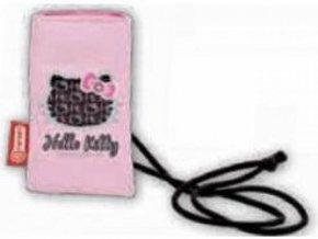 Pouzdro - kapsička na mobil Hello Kitty (růžovo-černé) 5796