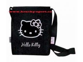 Kabelka Hello Kitty černá dívčí taštička taška přes rameno 5802