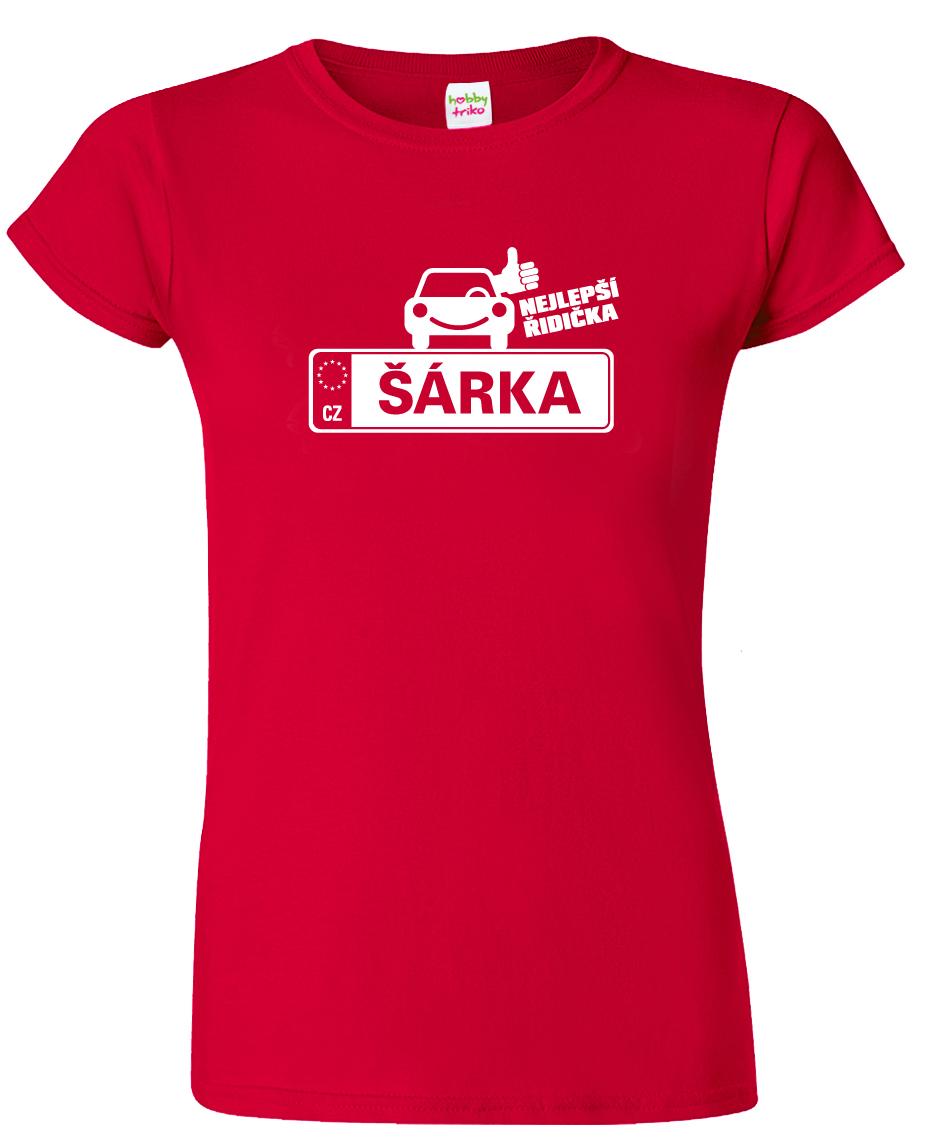 Dámské tričko pro řidičku