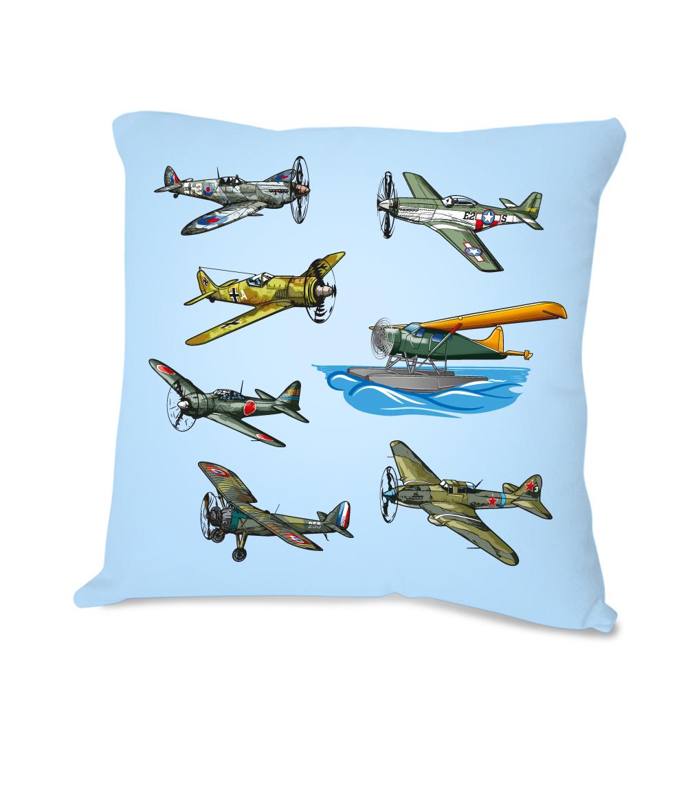Polštářek s letadly