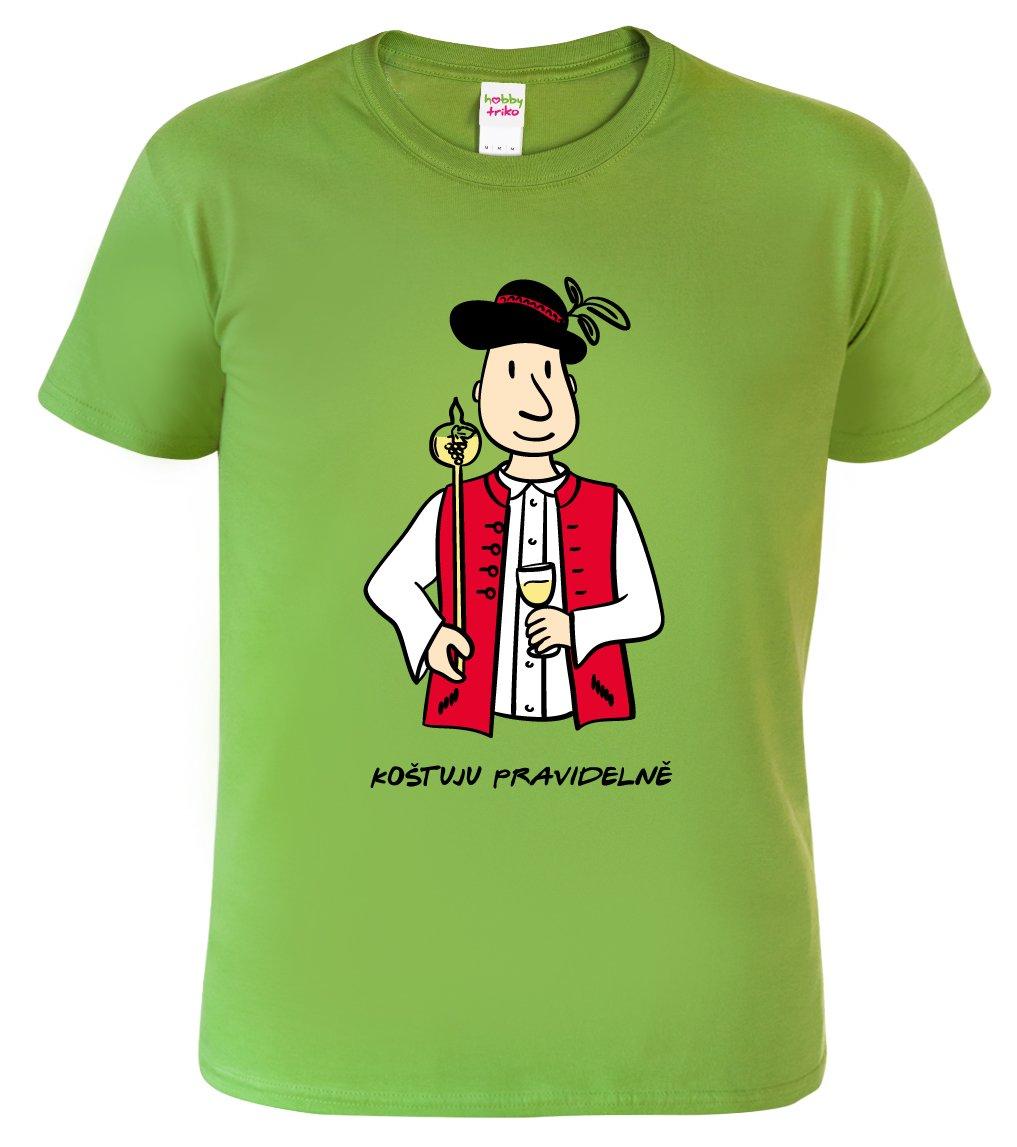 Vtipné tričko - Vinař v moravském kroji s koštýřem - HobbyDárky c4af4be7f5