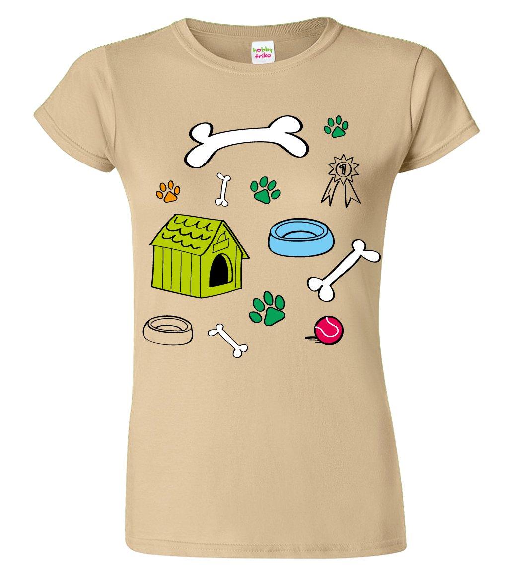 Tričko pro pejskaře - Psí symboly kreslené