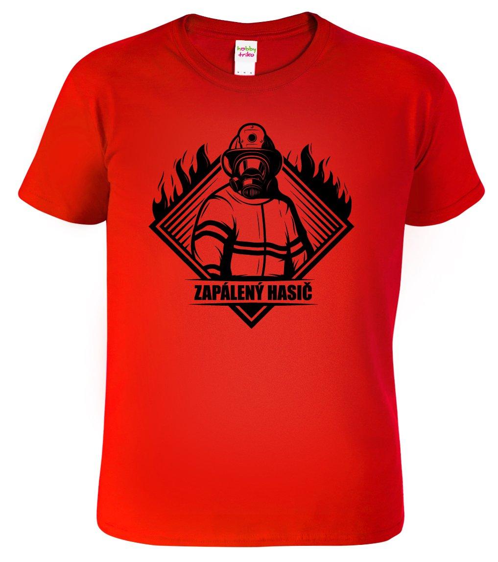 333efb06a72 Pánské hasičské tričko - Zapálený hasič - HobbyDárky