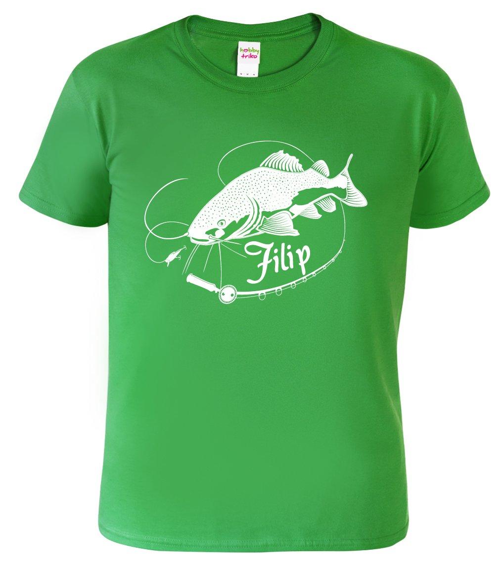 Dětské rybářské tričko se jménem - Sumec velký