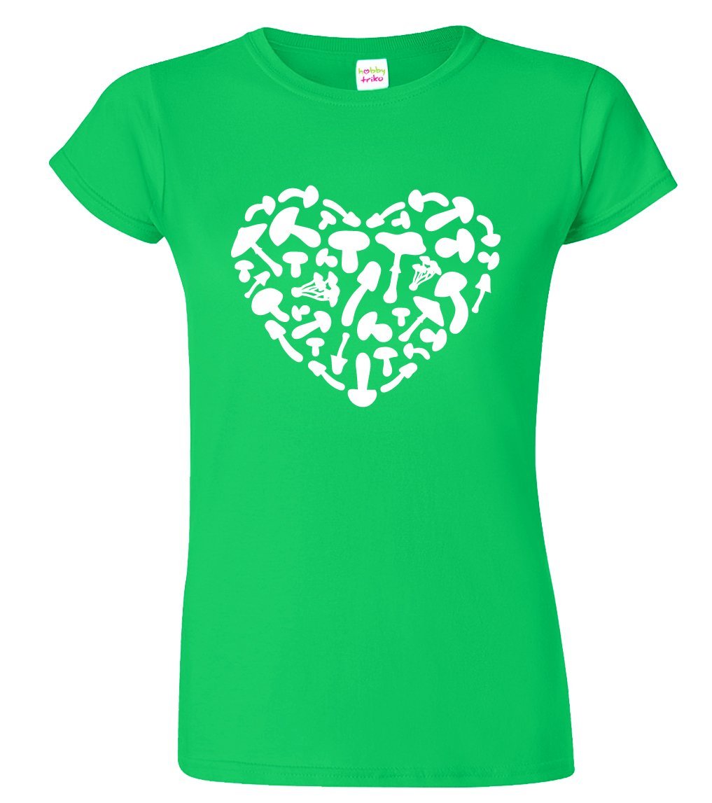 Dámské tričko pro houbaře - Houbařské srdce