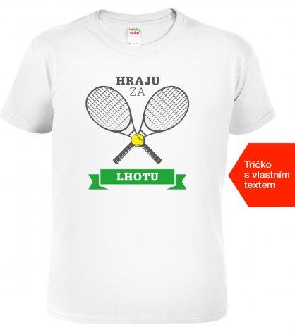Tenisové tričko Hraju za bílé