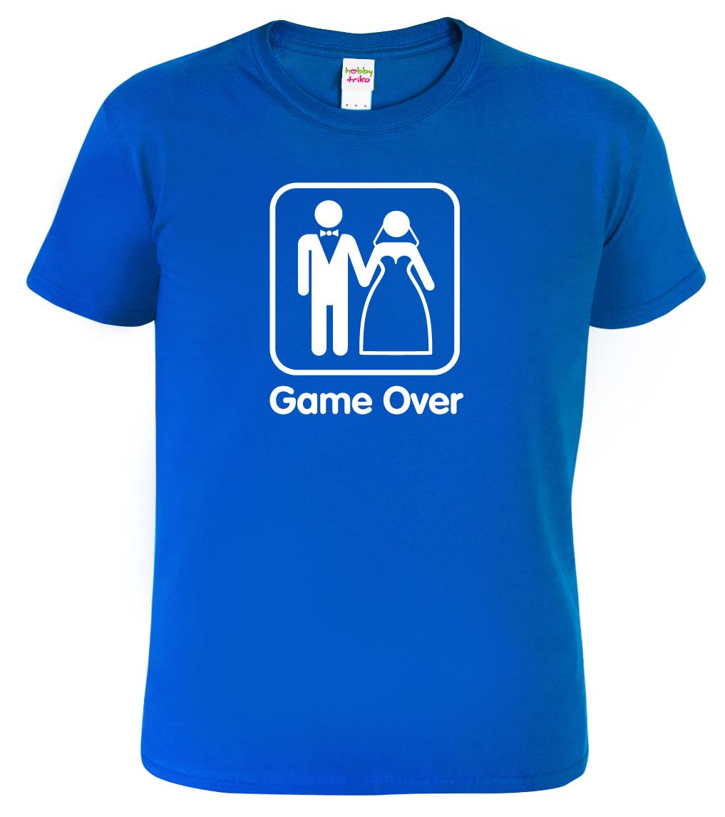 Vtipné tričko - Game Over Barva  Modrá (Royal Blue) 21d46dded8