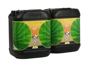 Základní dvousložkové růstové hnojivo AWA Leaves od Atami, 10l.