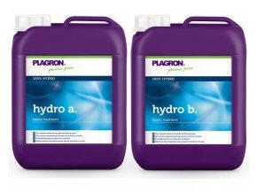 Základní dvousložkové hnojivo pro závlahové systémy Hydro A+B od Plagron, 5l.