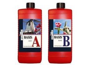 Základní dvousložkové hnojivo Basis A/B od Mills, 500ml.