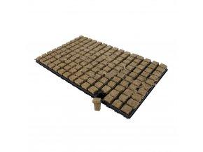 Kostky z minerální vaty (rockwoll) o velikosti 25x25x40mm v sadbovači po 150 kostkách, 1ks, Grodan.