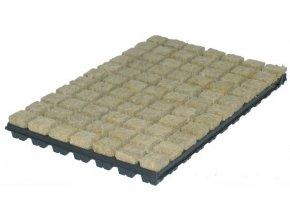 Kostky z minerální vaty (rockwoll) o velikosti 36x36x40mm v sadbovači po 77 kostkách, 1ks, Grodan.