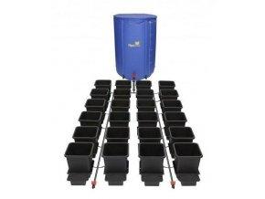 Samozavlažovací systém pro 24 rostlin a rozkládací 400l nádrží, Autopot.