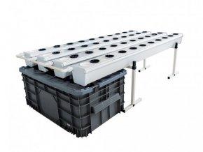 Aeroponický systém pro 40 rostlin, Aeroflo od General Hydroponics/ Terra Aquatica.