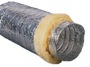 Tepelně a hlukově izolovaná vzduchová hadice o průměru 102mm, Sonoflex od LT Klima.