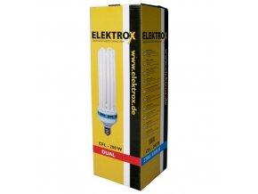 Pěstební usporná CFL lampa s kombinovaným světelným spektrem o výkonu 200W, Elektrox.