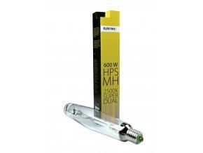 Pěstební kombinované světlo o výkonu 600W, Super Grow MH+HPS od Elektrox.