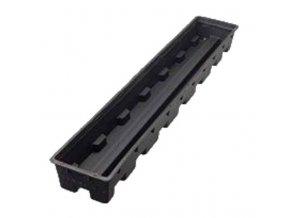 Plastový hydroponický truhlík typu libra o rozměrech 100x15x7,5cm