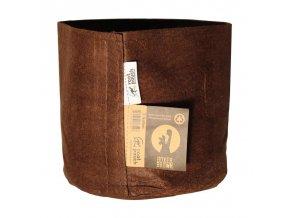 Textilní květník Brown od Root Pouch o velikosti 8l.