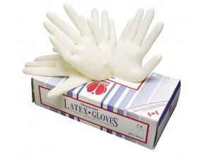 Jednorázové latexové rukavice v balení po 100 kusech, Sempercare.