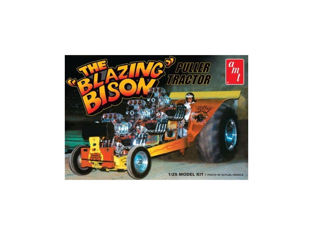 Plastový model auto AMT 1006 - Blazing Bison Puller Tractor (1:25)