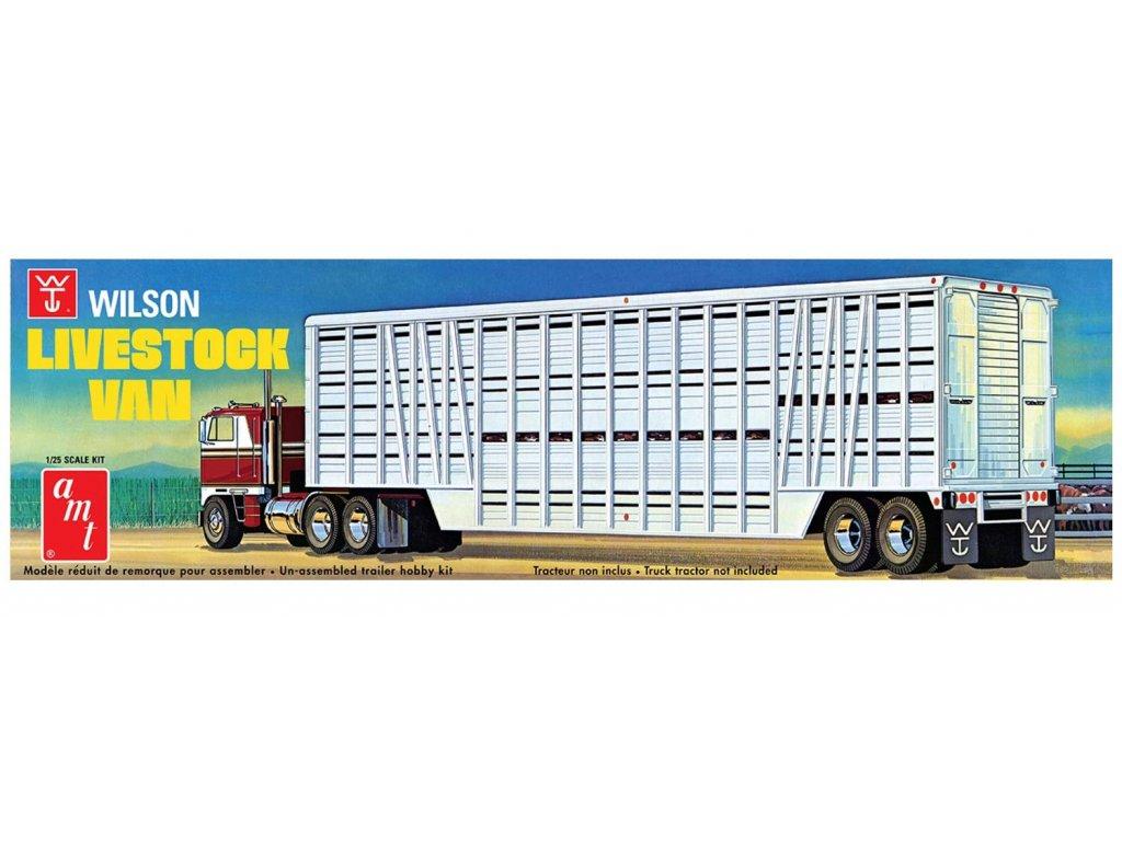 Plastový model náves AMT 1106 - Wilson Livestock Van (1:25)
