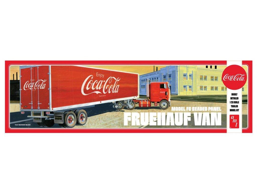 Plastový model náves AMT 1109 - Coca-Cola Model FB Beaded Panel Fruehauf Van (1:25)