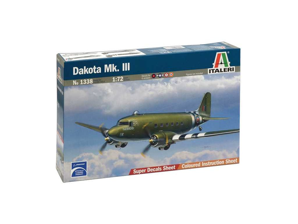 1028 model kit lietadlo italeri 1338 dakota mk iii 1 72